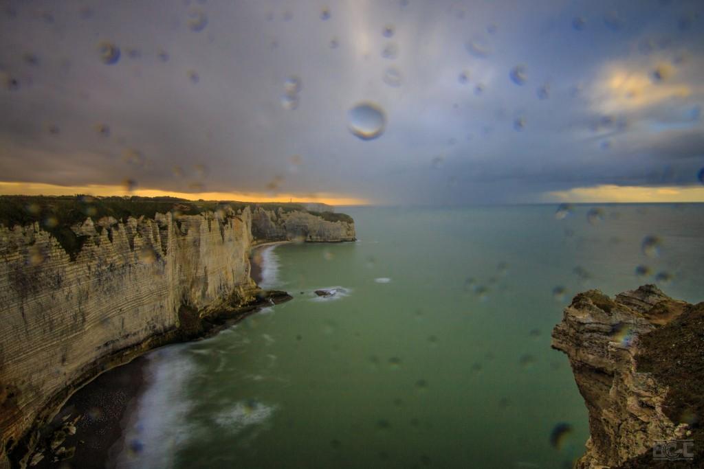 Etretat pluie
