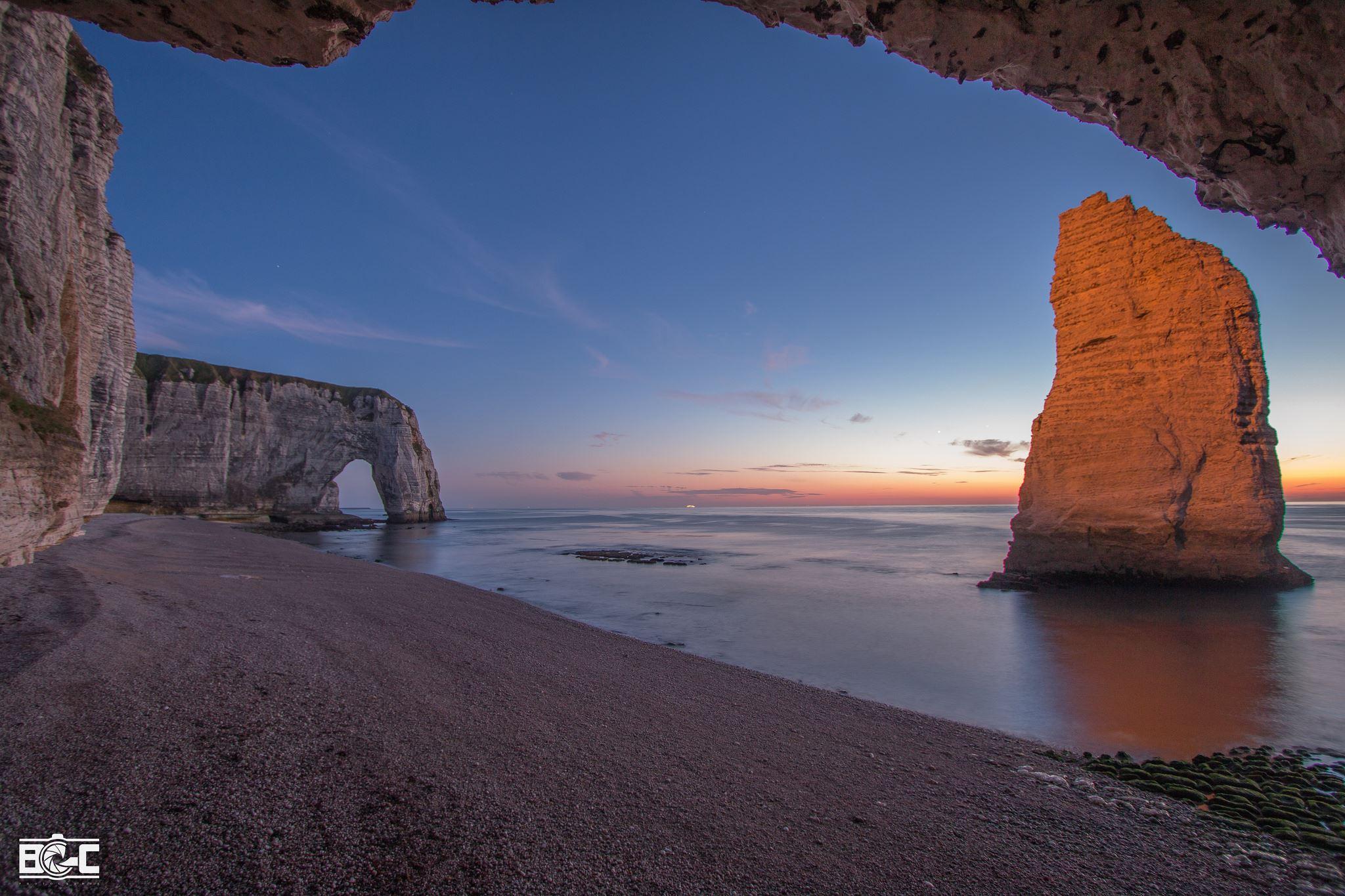 La plage Jambourg depuis la sortie du trou à l'homme. ©Blas Garcia Photography